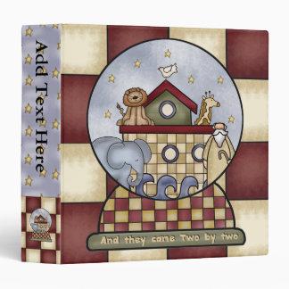 Carpeta de Avery del globo de la arca de Noahs