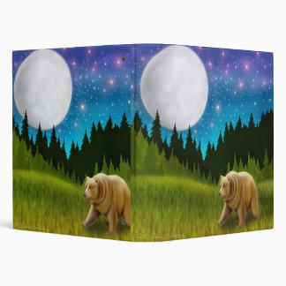 Carpeta de Avery del grisáceo del claro de luna