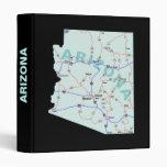 Carpeta de Avery del mapa de camino de Arizona