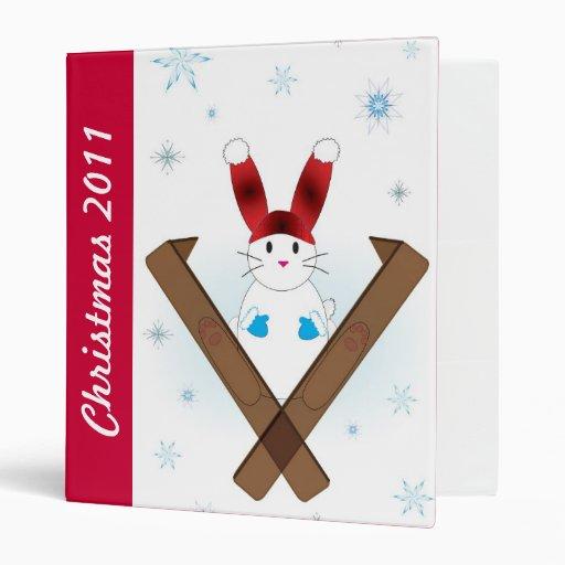 Carpeta de Avery del navidad del conejito del