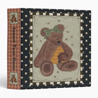 Carpeta de Avery del oso de peluche