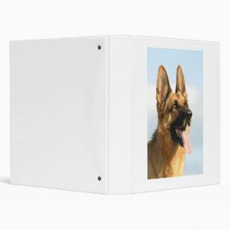 Carpeta de Avery del perro de pastor alemán