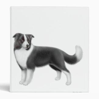 Carpeta de Avery del perro del border collie