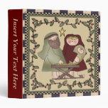 Carpeta de Avery del pesebre de Jesús del bebé