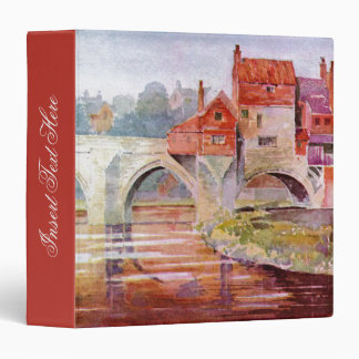 Carpeta de Avery del puente del río