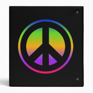 Carpeta de Avery del signo de la paz