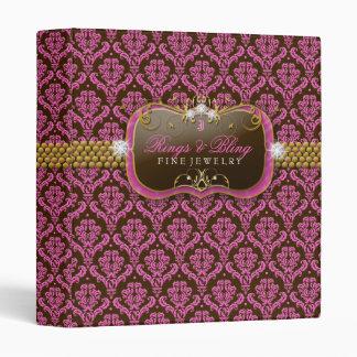 carpeta de Bling del chocolate de la frambuesa