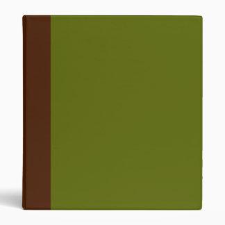 Carpeta de Brown Dos-Entonado y del verde verde ol