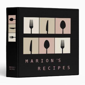 Carpeta de cocinar contemporánea moderna del libro
