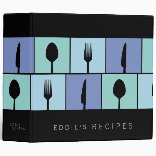 Carpeta de cocinar moderna del libro de la receta