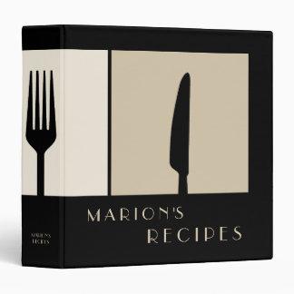 Carpeta de cocinar moderna lisa del libro de la
