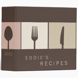 Carpeta de cocinar moderna marrón del libro de la