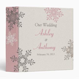 Carpeta de color topo de marfil rosada del boda de