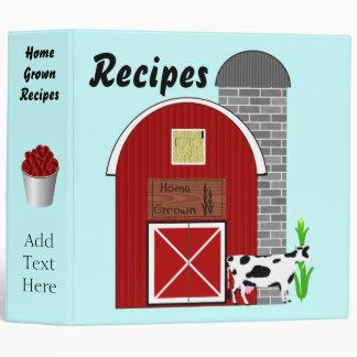 Carpeta de cosecha propia de Avery de las recetas