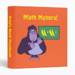 Carpeta de cuenta púrpura divertida de la matemáti