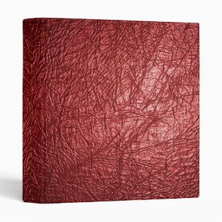 carpeta de cuero roja de la textura