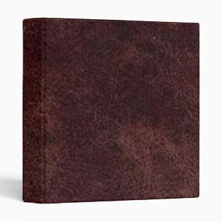 Carpeta de cuero rojo marrón de Avery