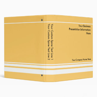 Carpeta de encargo amarilla de la presentación del