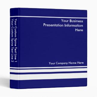 Carpeta de encargo azul de la presentación del neg