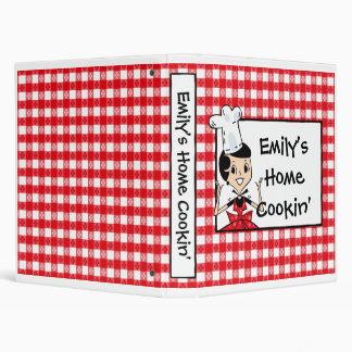 Carpeta de encargo casera de la receta de Cookin