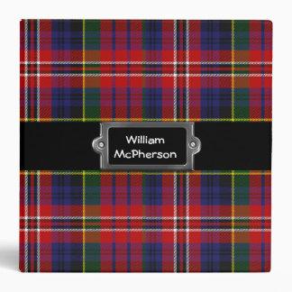 Carpeta de encargo colorida de la tela escocesa de