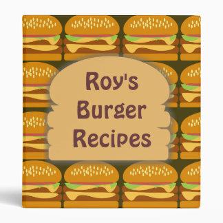 Carpeta de encargo de la hamburguesa