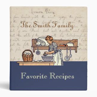 Carpeta de encargo de la receta de la familia de