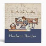 Carpeta de encargo de la receta de la familia de l