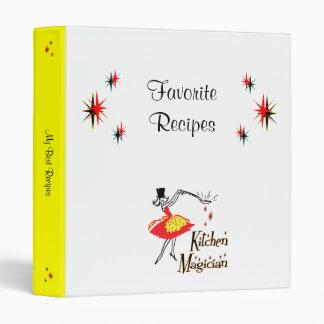 Carpeta de encargo de la receta del cocinero retro