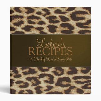 Carpeta de encargo de la receta del estampado leop