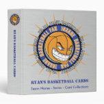 Carpeta de encargo de la tarjeta del baloncesto