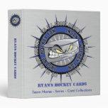 Carpeta de encargo de la tarjeta del hockey
