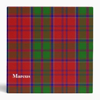 Carpeta de encargo de la tela escocesa de tartán