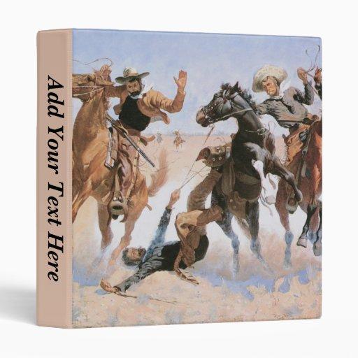 Carpeta de encargo del vaquero del vintage