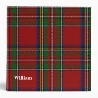 Carpeta de encargo real de la tela escocesa de