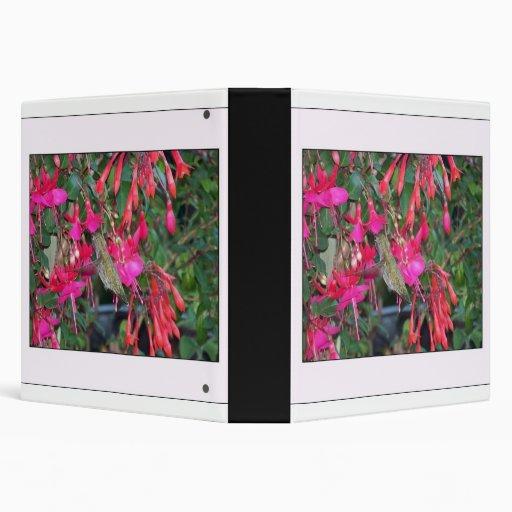 Carpeta de Flowerts Avery del colibrí y del fucsia