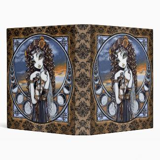 Carpeta de hadas del arte de la luna gótica de la