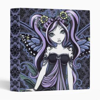 Carpeta de hadas del arte de la mariposa violeta d