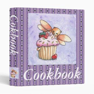 Carpeta de hadas del libro de cocina del gato y de