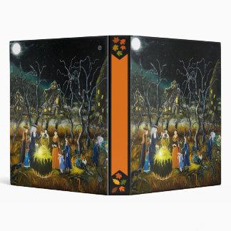 Carpeta de Halloween, brujas alrededor de la