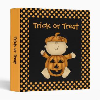 Carpeta de Halloween del bebé de la calabaza