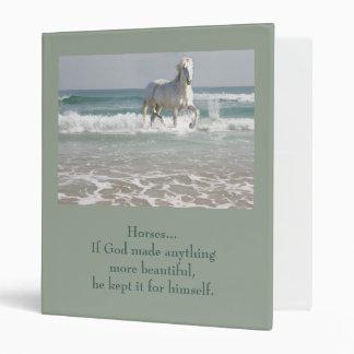 Carpeta de la belleza del océano del caballo
