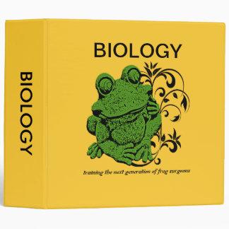 Carpeta de la biología de la diversión de la rana