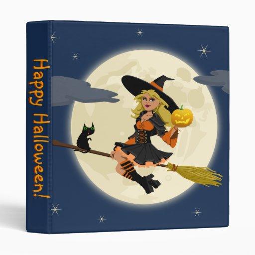 Carpeta de la bruja del feliz Halloween