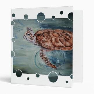 Carpeta de la burbuja de la tortuga de mar verde