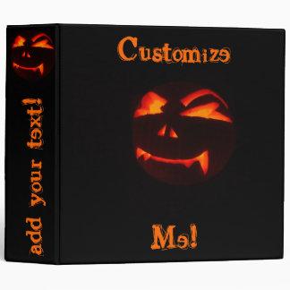 Carpeta de la calabaza de la linterna de Halloween