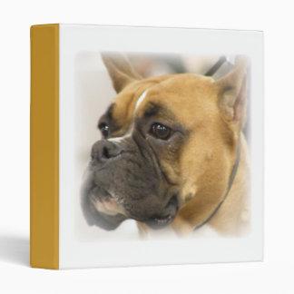 Carpeta de la cara del perro del boxeador