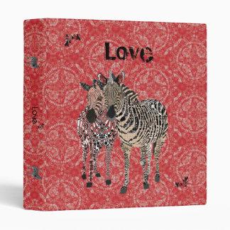 Carpeta de la cebra del amor