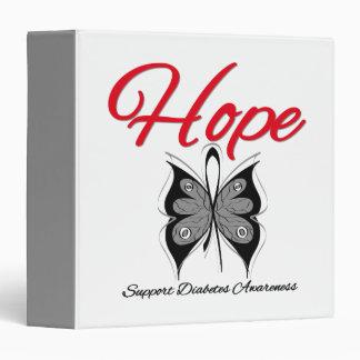 Carpeta de la cinta de la mariposa de la esperanza