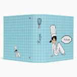 Carpeta de la cocina del cocinero del chica del di